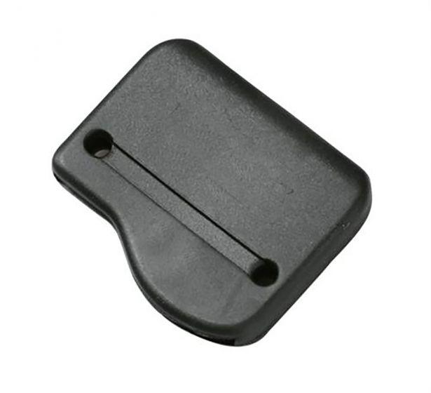 "Duraflex Black 25mm / 1"" Elastomer Tip End - Sew in Webbing End"