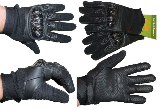 Tactical Special Ops Kevlar Shooters Gloves - Black