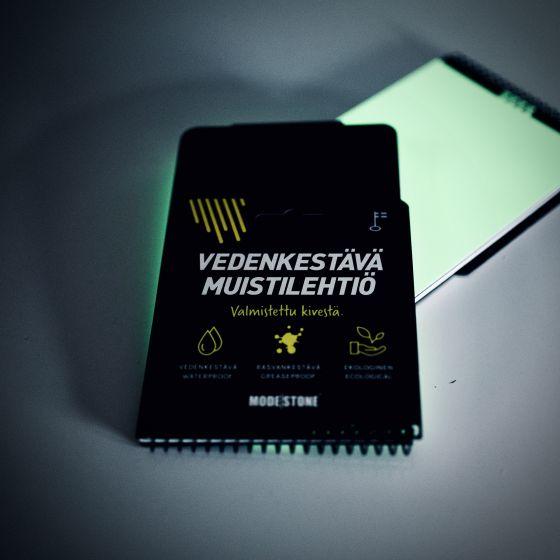 Modestone Glowpad (Waterproof Notebook with Glow In The Dark Slate - Black - 30 Sheet/60 Pages)