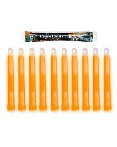 """10 (TEN) - 12 Hour 6"""" Military ChemLight (15cm) Orange lightstick (Cyalume® Branded)"""