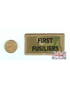 Multicam / MTP 1st Fusiliers Shoulder Flash (TRF)