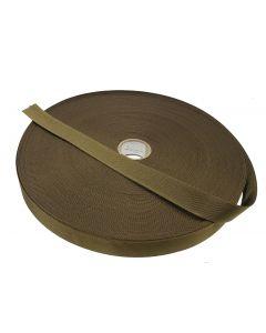 "Coyote Brown 25mm / 1"" Plain Weave Webbing 50 Metre Roll"