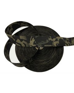 """50mm / 2"""" Double Sided Crye Multicam Black Elastic"""
