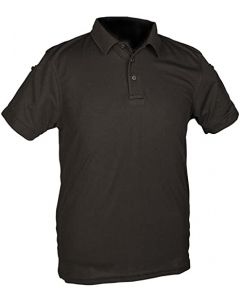 Mil-te-Mens-Quickdry-Short-Sleeved-Polo-Shirt-Black
