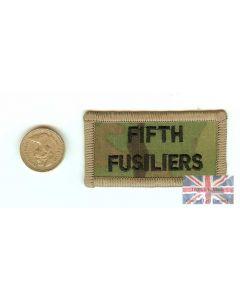 Multicam / MTP 5th Fusiliers Shoulder Flash (TRF)