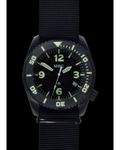 """MWC """"Depthmaster"""" 100atm / 3,280ft / 1000m Water Resistant Military Divers Watch in PVD Stainless Steel Case with Helium Valve (Quartz)"""
