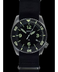 """MWC """"Depthmaster"""" 100atm / 3,280ft / 1000m Water Resistant Military Divers Watch in Stainless Steel Case with Helium Valve (Automatic)"""