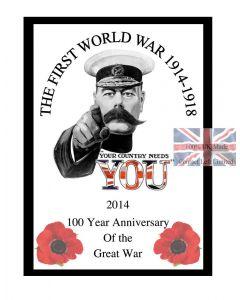 World War 1 Anniversary Poster 100 Year Centenary commemorative Edition