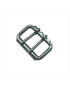 CL Nickle Plated Heavy Duty Double Tong Roller Buckle (51mm)