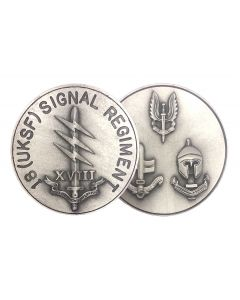 18 (UKSF) Signal Regiment Coin front and back