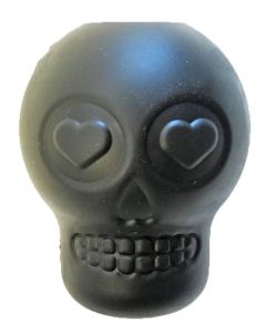 MKB Sugar Skull Treat Dispenser & Chew Toy - Large - Magnum Black