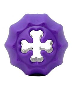 MKB Crossed Bones Treat Pocket & Chew Toy - Purple - Medium - Floating Ball