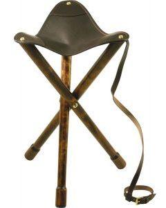 Tripod Leather Stool by David Nickerson