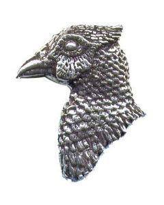 Bisley Pewter Pin No.4 Pheasant Head