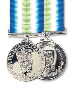 Official Miniature Falklands South Atlantic Medal + Ribbon