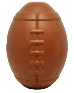 MKB Football Dog Toy - Durable Chew Toy & Treat Dispenser - Large - Brown