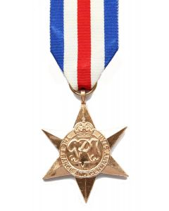 France and Germany Star Miniature Medal + Ribbon