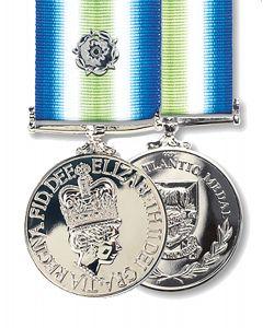 Official FULL SIZE Falklands South Atlantic Medal + Ribbon + Rosette