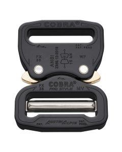 "AustriAlpin 38mm/1.5"" Pro Style Black Cobra Buckle - Male Adjustable Female Fixed"