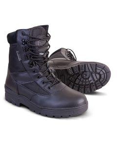 Cadet Patrol Boots - Half Leather/Half Cordura - Black