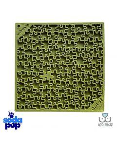 SodaPup Lick Mat - Enrichment EMAT with Jigsaw Design - Green