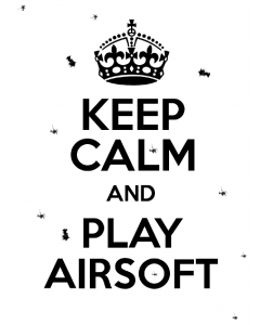 Keep Calm and Play Airsoft Poster