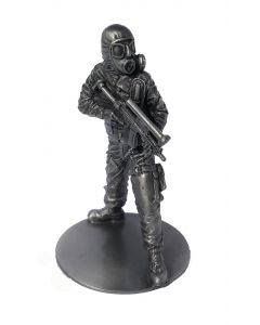 Pewter SAS CRW Figure with Heckler & Koch MP5 (Circa 1980) front