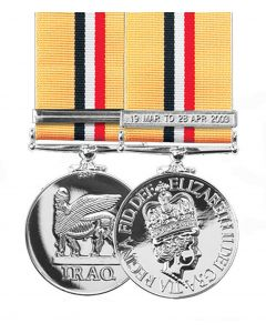 Official OP Telic IRAQ Miniature Medal + Ribbon and Clasp