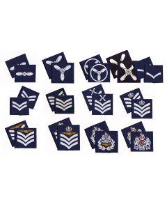 Pair Royal Air Force Blue Rank Slides - RAF - (All Ranks) Pair
