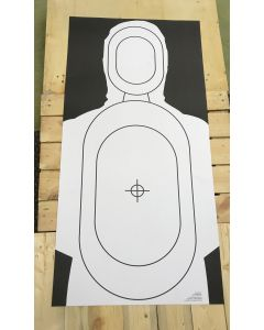 Official UK Police Issue Firearms Targets (silhouette 1000mm x 500mm)