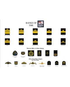 A3 Ranks of the Royal Navy Poster