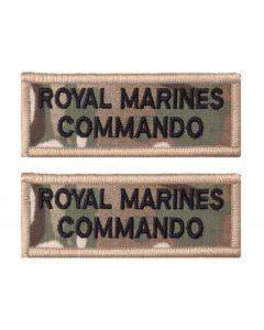 Pair Multicam / MTP Royal Marines Commando Rectangle Flash (VELCRO® Brand Hook Backed)