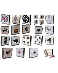 170gsm Card Targets 17cm x 17cm - Packs of 100