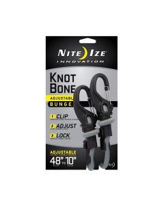 "Nite Ize KnotBone Adjustable Bungee Cord Large 9mm 10""-48"" w/ Carabiner Clip (BLACK FRIDAY)"