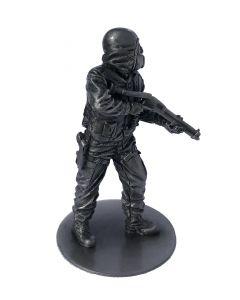 Pewter SAS CRW Figure with Shotgun (Circa 1980) Front Side