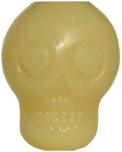 MKB Glow in the Dark Sugar Skull Dog Toy - Treat Dispenser & Chew Toy - Medium