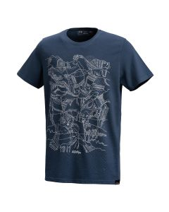 AustriAlpin 11n1 T-Shirt - Printed T-Shirt with 11 Hidden Alpine Elements - Dark Blue